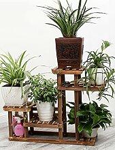 GAOCHAOXIANGHJ Blumenregal Holz Bodenart 5. Stock Blumentopf Regal europäischer Stil Innen- draussen Einlegeböden Pflanzenregale ( farbe : A )