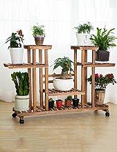 GAOCHAOXIANGHJ Blumenregal Holz Bodenart Blumentopf Regal europäischer Stil Innen- draussen Einlegeböden Pflanzenregale ( farbe : C )
