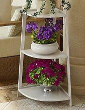 GAOCHAOXIANGHJ Blumenregal Holz Bodenart Blumentopf Regal europäischer Stil Innen- draussen Regale Einfach Bonsai steht ( farbe : B )