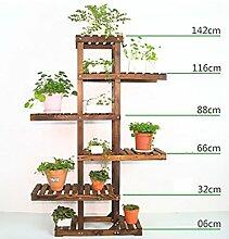 GAOCHAOXIANGHJ Blumenregal Holz Bodenart Blumentopf Regal europäischer Stil Innen- draussen Einlegeböden Pflanzenregale ( farbe : D )
