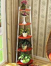 GAOCHAOXIANGHJ Blumenregal Holz Bodenart Blumentopf Regal europäischer Stil Innen- draussen Regale Einfach Bonsai steht ( farbe : D )