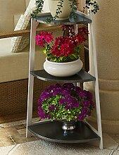 GAOCHAOXIANGHJ Blumenregal Holz Bodenart Blumentopf Regal europäischer Stil Innen- draussen Regale Einfach Bonsai steht ( farbe : C )
