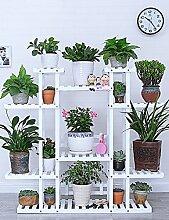 GAOCHAOXIANGHJ Blumenregal Holz Bodenart Blumentopf Regal europäischer Stil Innen- draussen Einlegeböden Pflanzenregale ( farbe : F )