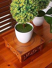 GAOCHAOXIANGHJ Blumentopf Regal Holz Mini Auf dem Desktop Blumenregal europäischer Stil Innen- Bonsai steht ( größe : M )
