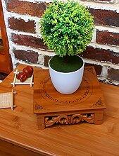 GAOCHAOXIANGHJ Blumentopf Regal Holz Mini Auf dem Desktop Blumenregal europäischer Stil Innen- Bonsai steht ( größe : S )