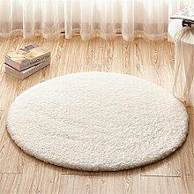 GAOCHUNFANG® Runde Rug Teppich Teppiche für Wohnzimmer Kilim Pelz Teppich Kinderzimmer Lange Plüsch Teppiche für Schlafzimmer Shaggy Bereich Teppich , B , 120cm