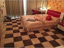 GAOCHUNFANG Teppich Eva Puzzle-Matten Teppich Nach Hause Suede Wohnzimmer Schlafzimmer Teppichfliesen Mosaik Schaumstoffpolster Pad Rutschfeste Badematte (Drei Aus Dem Zuschuss) , Beige