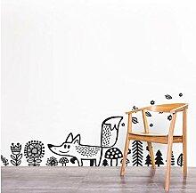 GAOCHUNYU Wilde Tiere Fox Wandaufkleber Vinyl,