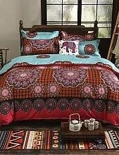 GAOHAIFQ®, vierteilige Anzug,100% Baumwolle Muster Bettwäsche-Serie 4 Stück Bettwäsche-Set, Queen-Size , full