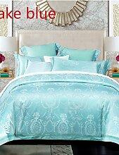 GAOHAIFQ®, vierteilige Anzug,4-teilig rosa Farbe rom Stil Jacquard Bettbezug gesetzt Bettwäsche aus 100% Baumwolle bestickt , queen-pink , queen-pink