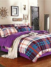 GAOHAIFQ®, vierteilige Anzug,advanced Strahlschleif dicker Baumwolle eine vierköpfige Familie Quilt Baumwolle Kit Voll / Queen / King / c-King-Size- , cal king