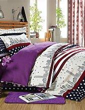 GAOHAIFQ®, vierteilige Anzug,advanced Strahlschleif dicker Baumwolle eine vierköpfige Familie Quilt Baumwolle Kit Voll / Queen / King / c-King-Size- , queen