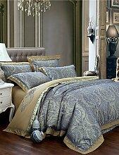 GAOHAIFQ®, vierteilige Anzug,Art und Weise luxuriöse Betten gesetzt edlen und eleganten Bett Tribut Seide Bettwäsche Heimtextilien 4pcs Königin King-Size , king