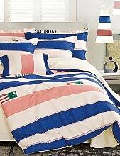 GAOHAIFQ®, vierteilige Anzug,cotton Köper gedruckt eine Familie von vier Baumwollbettwäsche suite voll / Königin / King-Size- , king
