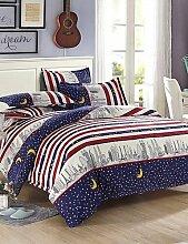 GAOHAIFQ®, vierteilige Anzug,der Nachthimmel Polyester Bettwäsche 4pc Streifen, Königin / in voller Größe , full