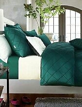 GAOHAIFQ®, vierteilige Anzug,Luxusbettwäsche Set Königin King-Size-Bettwäsche grüne Farbe , king