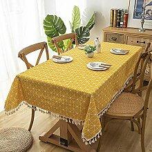 GAOHAILONG Rechteckige Tischdecke aus Baumwolle