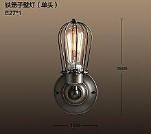GaoHX American Vintage Lager Industrial Corridor Gang Wandleuchte Wohnzimmer Schlafzimmer Wand Lampe,B