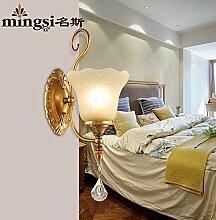 GaoHX Amerikanische Ländliche Einfachheit Wandleuchte Wohnzimmer Balkon Flur Der Flur Wand Lampe Nachttischlampe Continental