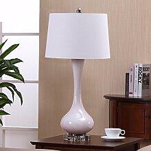 GaoHX Light Amerikanische Ländliche Romantische Nachttischlampe Lampe Moderne Minimalistische Schlafzimmer Europäische Villen Luxus Tisch Tischleuchten