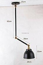 GaoHX Light Amerikanischen Industriellen Vintage Kreativen Arm Wand Lampe Restaurant Deck Öffnen Kronleuchter