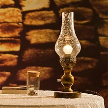 GaoHX Light Europäische Retro-Nostalgie Petroleumlampe Dimmer Lampe Schlafzimmerlampe Nachttischlampe Kreative Dekorative Fotografie ( Color : A )