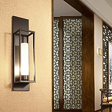 GaoHX Light Modernen Chinesischen Stil Lampe Einfache Schmiedeeiserne Lampe Schlafzimmer Wohnzimmer Wand Glas Hotel Wall Wandleuchte,H120Cm