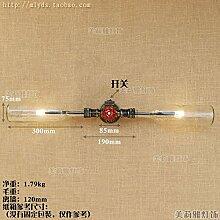 GaoHX Light Retro-Korridor Studieren Led Wand Lampe American Iron Wasserpfeife Flaschenwand,Transparente