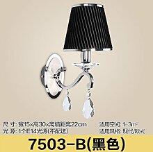 GaoHX Wandleuchte Kreativen Stil Schlafzimmer Wand Lampe Indoor Wandleuchten Korridor Wandleuchte?Einzelne Lampe/Zwei Lampen Crystal Wandleuchte