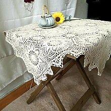 GAOJIAN Handgefertigte Tischtücher häkeln hohle Abdeckung mit Mehrzweck Tischdecke 85 * 85cm