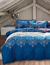 GAOL, vierteilige Anzug,blau-Böhmen-Art Bettwäschesätze Baumwolle Heimtextilien Queen-Size , queen
