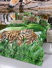GAOL, vierteilige Anzug,der Tiger neue 3D-Muster Bettwäsche-Sets Bettwäsche-Sets Ankunft Luxus, Queen-Size , queen