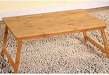 GAOLILI Bambus Faltbare Laptop Tisch Bett Mit Kleinen Tisch Dormitory Lazy Einfache Schreibtisch
