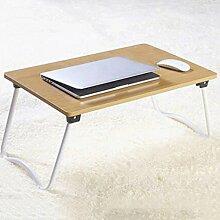GAOLILI Laptop-Bett-Tisch mit einfachem Studenten-Schlafsaal Lernen Schreib-Schreibtisch Kleiner Schreibtisch Falten faul Tisch
