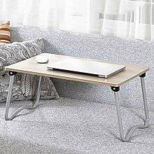 GAOLILI Laptop-Bett-Tisch mit einfachem Studenten-Schlafsaal Lernen Schreib-Schreibtisch Kleiner Schreibtisch Falten faul Tisch ( Farbe : E )