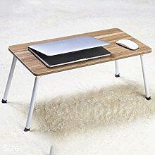 GAOLILI Laptop-Bett-Tisch mit einfachem Studenten-Schlafsaal Lernen Schreib-Schreibtisch Kleiner Schreibtisch Falten faul Tisch ( größe : 60*30*29cm )