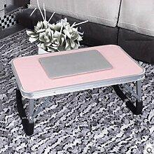 GAOLILI Laptop-Tisch auf dem Tisch mit dem Tisch zu bewegen die faltende einfache Lern-Schreibtisch Schreibtisch Lazy Dormitory Student Lern-Tabelle Kleine Tabelle Einfache Bett-Tabelle Erhöhen Sie den Desktop Großraum stark ( größe : Mittel )