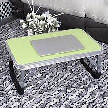 GAOLILI Laptop-Tisch auf dem Tisch mit dem Tisch zu bewegen die faltende einfache Lern-Schreibtisch Schreibtisch Lazy Dormitory Student Lern-Tabelle Kleine Tabelle Einfache Bett-Tabelle Erhöhen Sie den Desktop Großraum stark ( größe : Kleine )