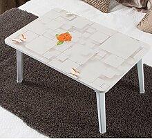 GAOLILI Laptop-Tisch mit Laptop Damen-Schlafsaal Schreibtisch Student Lern-Tabelle Kleine Tisch Einfache Tabelle Erhöhen Sie die Größe des Desktop Großes Zimmer Dick Hölzerne Beine Starken Umweltschutz