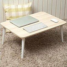 GAOLILI Laptop-Tisch mit Laptop Damen-Schlafsaal Schreibtisch Student Lern-Tabelle Kleine Tisch Einfache Tabelle Erhöhen Sie die Größe des Desktop Großes Zimmer Dick Hölzerne Beine Starken Umweltschutz ( Farbe : B )