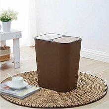 GAOLILI Push-Typ Doppelabdeckung kann klassifiziert werden Große Mülleimer Kreative Küche Wohnzimmer Home Rechteckige Mülltonnen