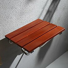 GAOQ Wandstühle Duschabtrennungen Duschstühle Klappstühle Eingangshocker Swing Hocker Eiche Badezimmer,C