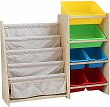 GAOQQI-Bücherregal für Kinder Holzlagerregal