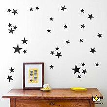 GaoXiao_ kreative kleine stars kinder schlafzimmer dekoration aufkleber aufkleber