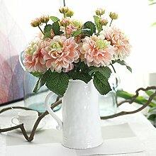 Gaoxu rose simulation blumen, dekoration, hochzeit.,milch grün