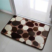 GAOYU Einfache Türmatten/Fußauflage/Innenmatten/Toilette Veranda Schlafzimmer Badezimmer Matten in der Halle,F,40X60Cm (16X24Inch)