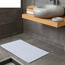 GAOYU Weiche Baumwollmatte/Küche Schlafzimmer Badezimmer Badezimmer Antilip Matte an der Tür/Fußauflage/Thick Waterbsorbing Towelight Tan,Weiß,50X80Cm (20X31Inch)