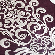 GAOYUHUA GY&H Bronzen Retro Komfort Tischläufer geometrisches Muster Couchtisch Restaurant Tuch Tisch Flagge Bett Läufer,red,32*200cm