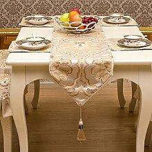 GAOYUHUA GY&H Europäische gehobene Hochzeit, Restaurant oder Bankett Tischläufer Esstisch Tuch Couchtisch Tuch TV Schrank Läufer Bett Handtücher,B,35*210cm