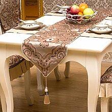 GAOYUHUA GY&H Europäische gehobene Hochzeit, Restaurant oder Bankett Tischläufer Esstisch Tuch Couchtisch Tuch TV Schrank Läufer Bett Handtücher,C,35*210cm